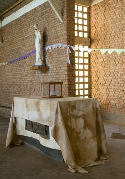 Nyamata Church -Alter,  Rwanda.  October 2007.