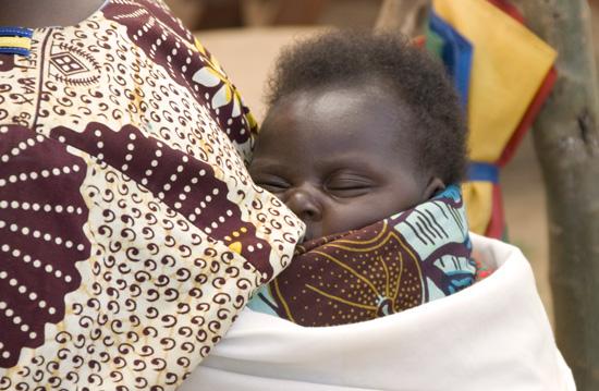 Millennium Village - Mayange, Rwanda.  New born child.