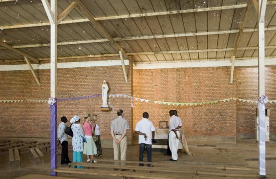 Nyamata - Inside of church.