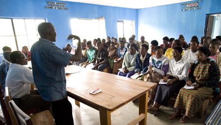 Youth cooperative meeting in Ruhengeri, Rwanda