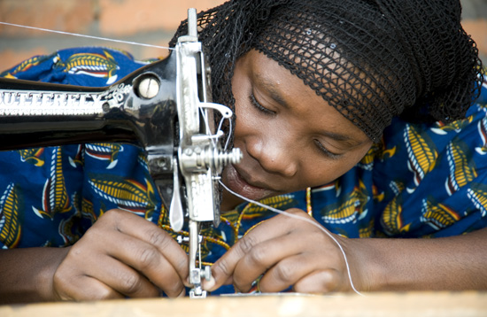 Member of sewing cooperative