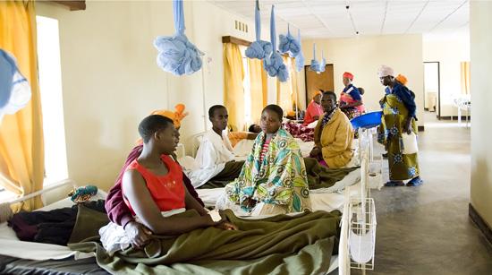 Butaro hospital ward, Rwanda
